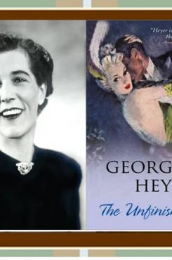 Georgette Heyer & Unfinished Clue Cover graphic