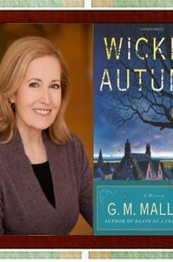 G.M. Malliet with Wicked Autumn graphic