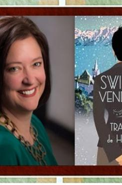 Tracee de Hahn and Book cover